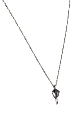Shaun Leane Necklace Silver & Black Spinel Pave