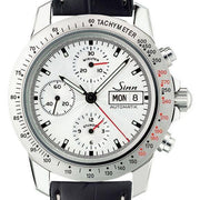 Sinn Motorist Chronograph 303 Silver Ty D 303.013 Leather Strap