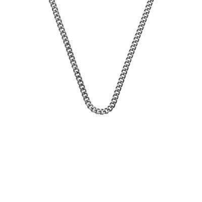 Emozioni Necklace Silver Curb 16-18 Chain