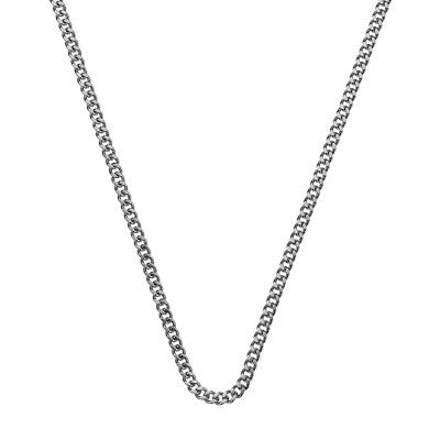 Emozioni Necklace Silver Curb 35mm Chain