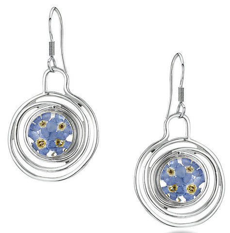 Shrieking Violet Earring Forget Me Not Spiral Silver