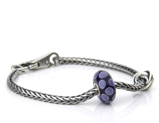Trollbeads Bracelet Luck & Joy Soft Midnight Silver