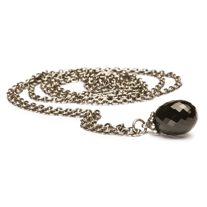 Trollbeads Necklace Fantasy Black Onyx Silver 100cm