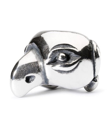 Trollbeads Bead Lucky Parrot Silver