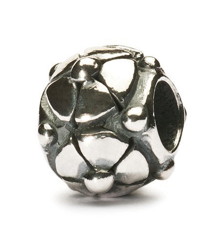 Trollbeads Bead Christmas Rose Silver
