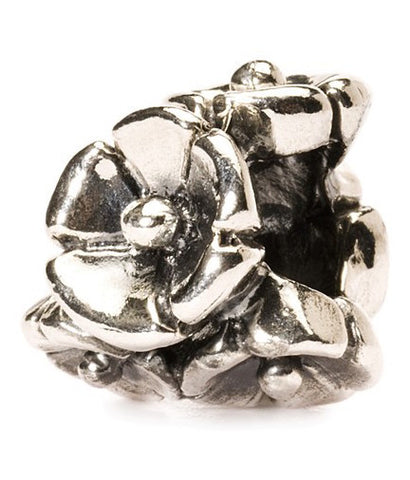Trollbeads Bead Forget Me Not Silver