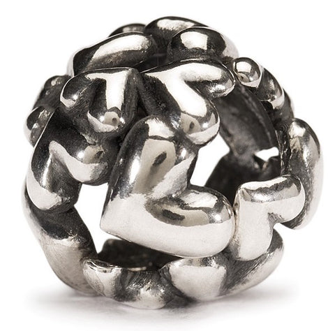 Trollbeads Bead Heart Ball Silver