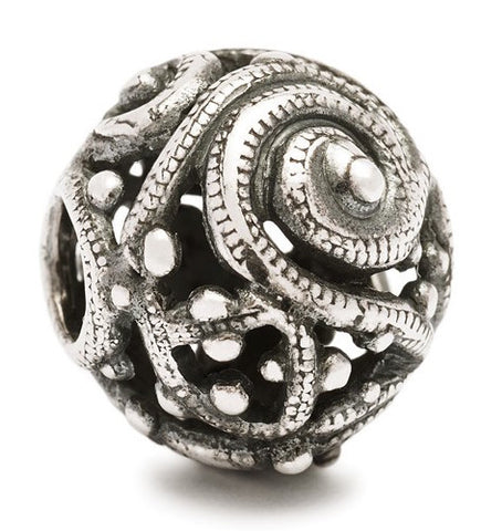 Trollbeads Bead Silver Whorl Silver