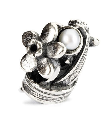 Trollbeads Bead Daffodil of March Silver