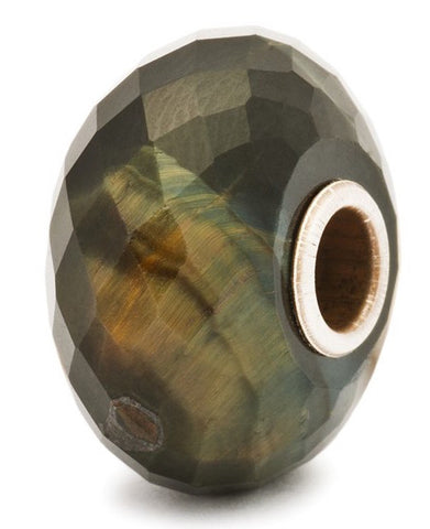 Trollbeads Bead Blue Tiger Eye Silver