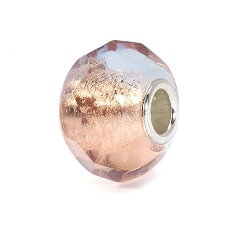 Trollbeads Bead Pink Prism Silver