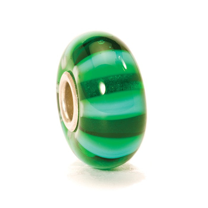 Trollbeads Bead Green Stripe