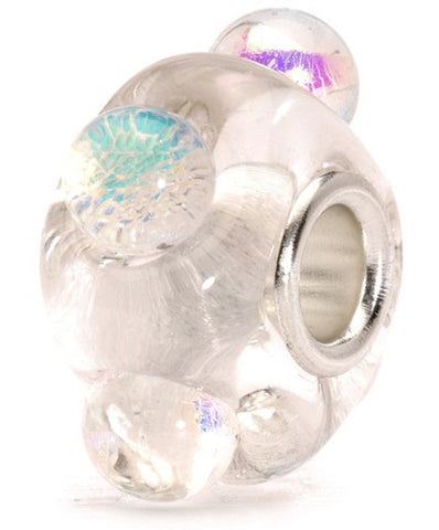 Trollbeads Bead Dichroic Ice Silver