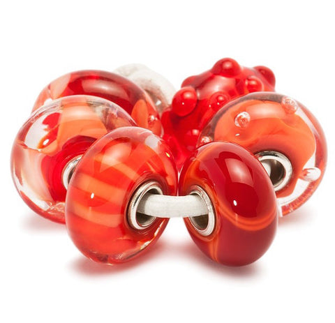 Trollbeads Bead Coral Kit Glass