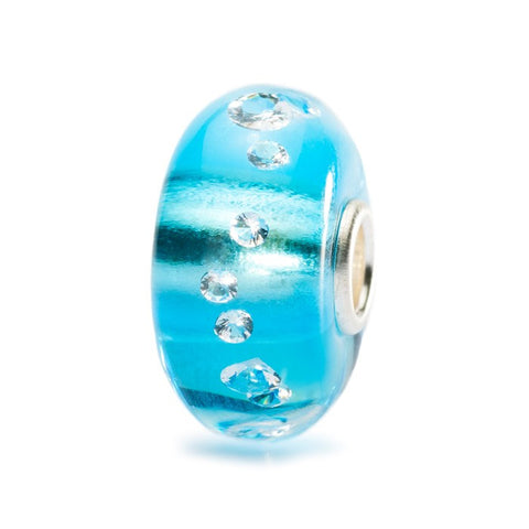 Trollbeads Bead The Iceblue Diamond Glass