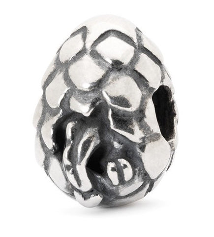 Trollbeads Bead Dragon Egg Silver