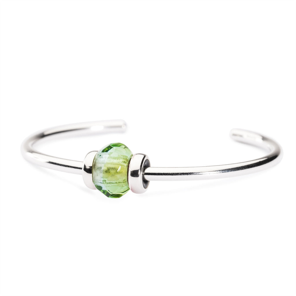 Trollbeads Bangle Green Prism Silver