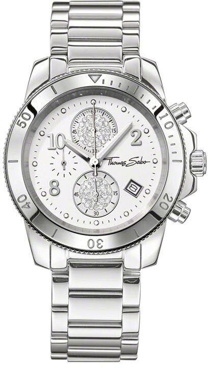 Thomas Sabo Watch Glam & Soul Ladies Chronograph WA0190-201-202-40