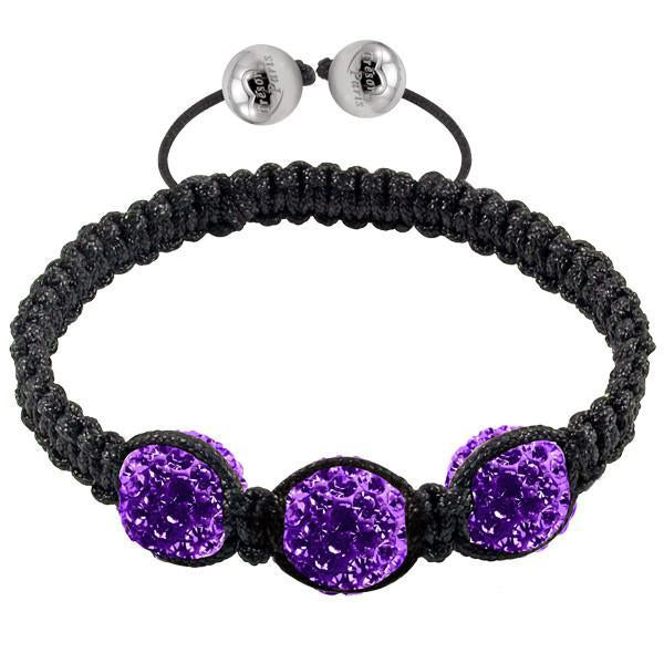 Tresor Paris Bracelet 3 Purple Crystal S
