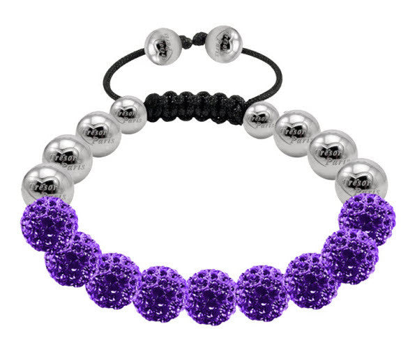 Tresor Paris Bracelet Purple Crystal Steel 10mm S