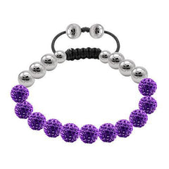Tresor Paris Bracelet Purple Crystal Steel 8mm S