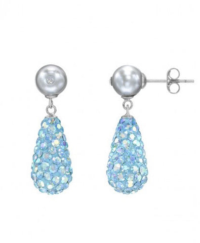 Tresor Paris Earrings Dualite Lite Blue Titanium