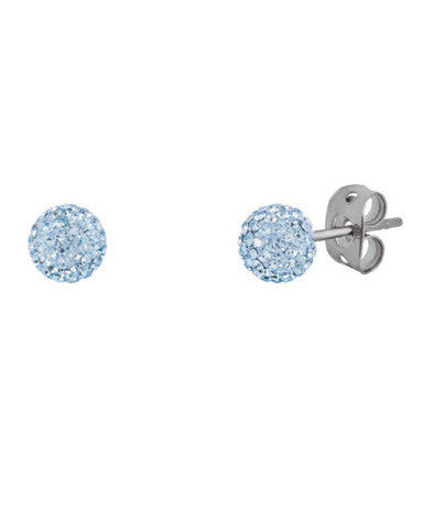 Tresor Paris Earrings Sky Light Blue Crystal Bonbon Titanium