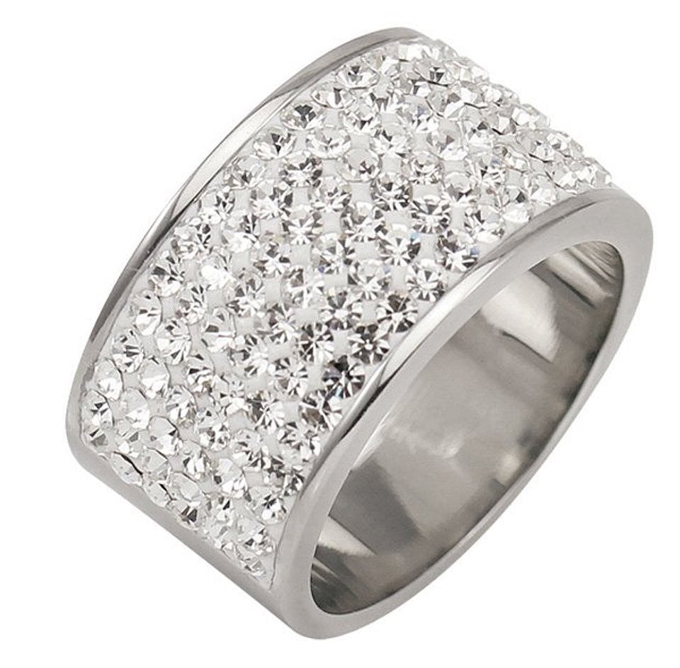 Tresor Paris Ring White Crystal Ring D