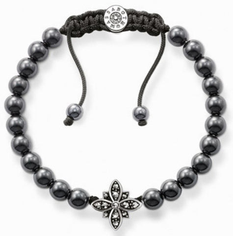 Thomas Sabo Special Addition Bracelet Flower Hematite Silver
