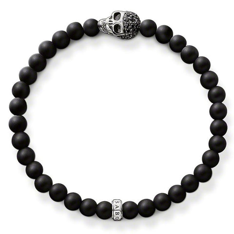 Thomas Sabo Bracelet Rebel At Heart Black Obsidian