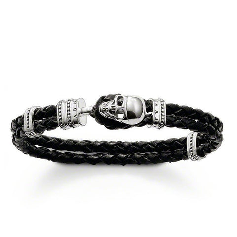 Thomas Sabo Bracelet Rebel At Heart Leather Extra Large