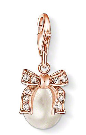 Thomas Sabo Charm Pendant Bow Rose Gold Plated
