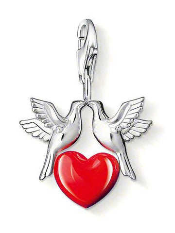 Thomas Sabo Charm Dove Heart Silver