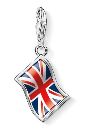 Thomas Sabo Charm Union Jack Flag Silver