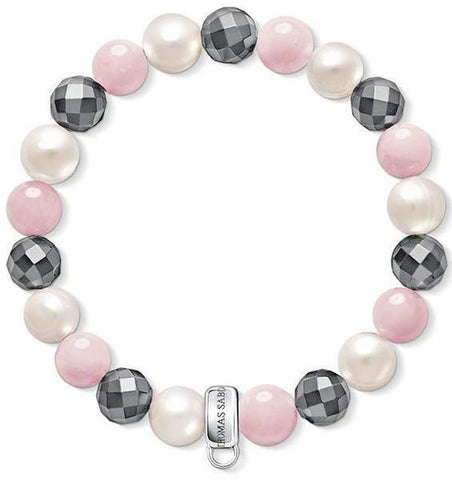 Thomas Sabo Bracelet Rose Quartz Silver Large