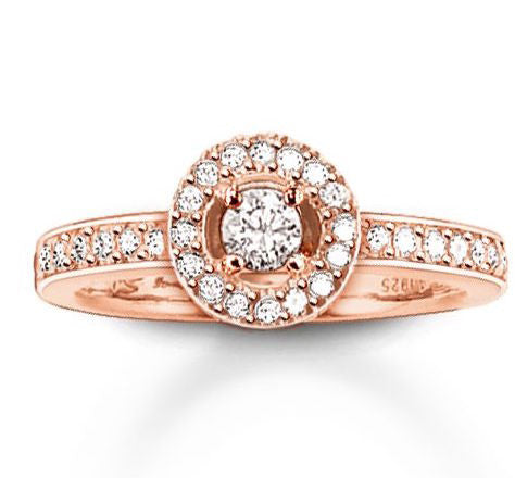 Thomas Sabo Ring Glam & Soul Eternity White Zirconia Pave Rose Gold D