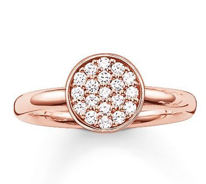 Thomas Sabo Ring Glam & Soul Sparkling Circles Rose Gold D