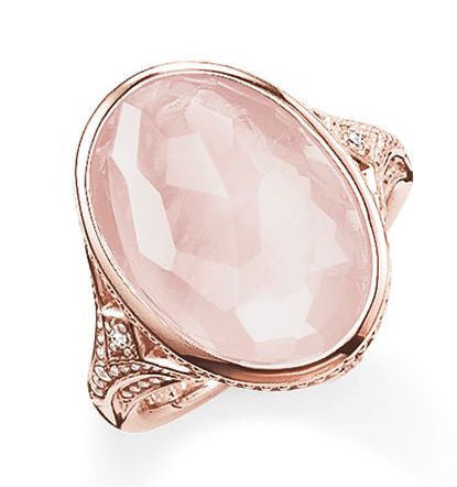 Thomas Sabo Ring Glam & Soul Purity of Lotos Rose Quartz Rose Gold D