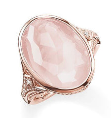 Thomas Sabo Glam And Soul Rose Gold Rose Quartz Pink Cocktail Ring D