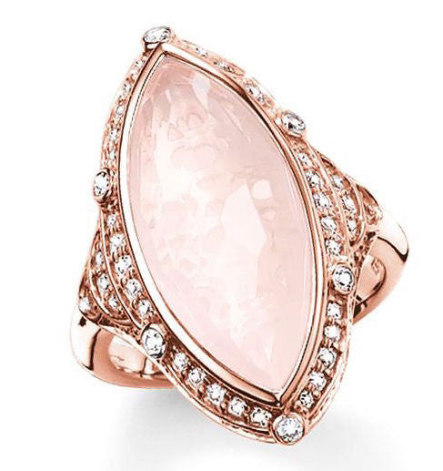 Thomas Sabo Ring Glam & Soul Purity of Lotus Rose Quartz Rose Gold D