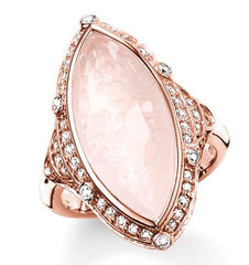 Thomas Sabo Glam And Soul Rose Gold Rose Quartz Ring D