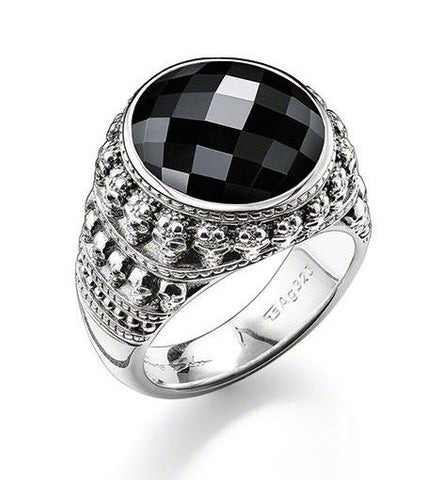 Thomas Sabo Ring Rebel At Heart Onyx Silver