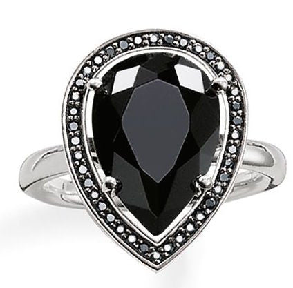 Thomas Sabo Ring Glam & Soul Drop Shaped Onyx Silver D