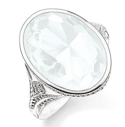 Thomas Sabo Ring Glam & Soul Purity of Lotos Milky Quartz Silver D