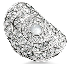 Thomas Sabo Glam And Soul Sterling Silver White Zirconia Zig Zag Ring D