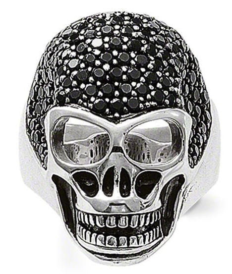 Thomas Sabo Ring Rebel At Heart Skull Silver D