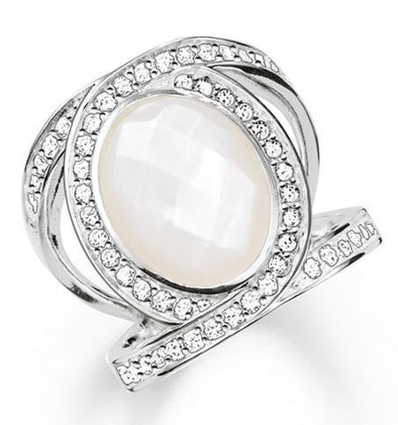 Thomas Sabo Ring Glam & Soul Eternity Of Love Pearl Silver D