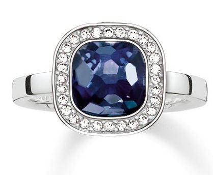 Thomas Sabo Ring Glam & Soul Secret of Cosmo Blue Synthetic Corundum Silver D