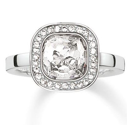 Thomas Sabo Ring Glam & Soul Secret of Cosmo White Zirconia Silver D