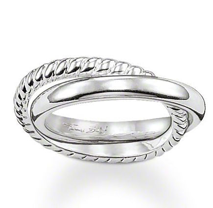 Thomas Sabo Ring Glam & Soul Filigree Plait Silver D